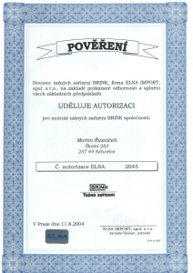 Certifikát ELSA-1