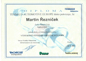 Certifikát Katalyzátory-1