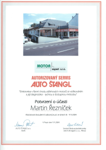 Certifikát Motor Expert-1