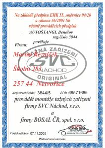 Certifikát SVC Náchod-1
